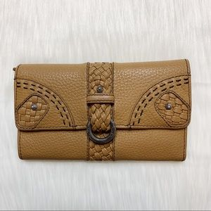 Brighton Braided Leather Ring Close Wallet